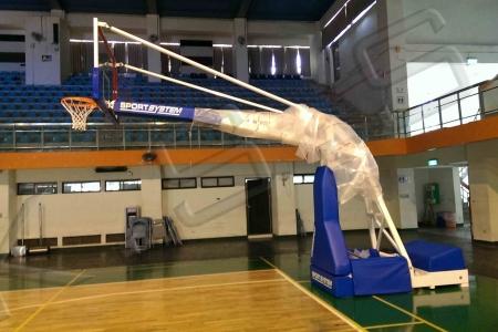 球場跑道,運動設施,高景,電動油壓籃球架,籃球架