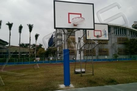球場跑道,運動設施,高景,籃球架,單柱式籃球架